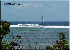 View of Coralita and sailboat